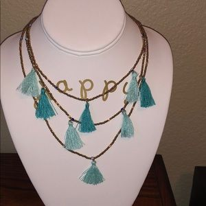Express NWT Necklace Boho style 3 chains
